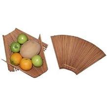 Chopstick Folding Basket - Great Kitchen Fruit & Vegetable Basket - Large, Tea Stained