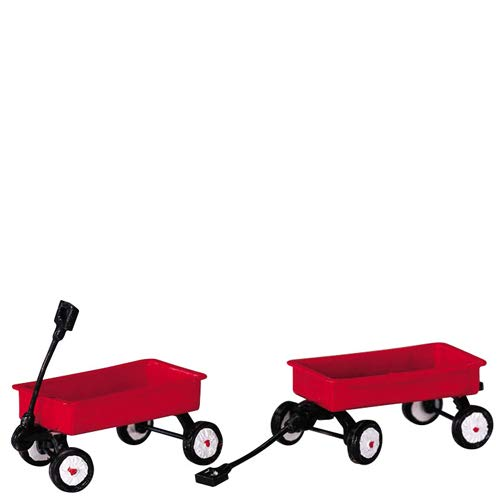 - 2004 Red Wagons Set of 2 Christmas Village Accessories by Lemax