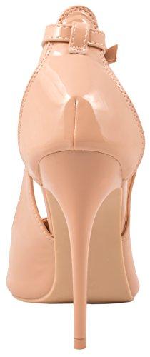 Elara Spitze Pumps | Moderne High Heels | Bequeme Lack Stilettos Beige