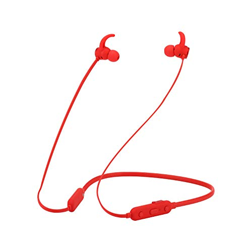 aloutte Wireless Magnetic Neckband Earphones,Bluetooth Headphones 10Hr Working Time, V4.1 Noise Cancelling Earbuds with Mic for Sports Truck Driver, Ipx5 Waterproof Sweatproof Bluetooth Headset Red