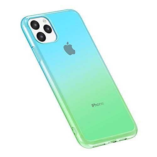 Fantasydao Slim Silicone Case Compatible with iPhone 11 Pro [Cute Gradient Color] Transparent Clear Fit Anti Scratch Flexible Soft TPU Rubber Gel Protective Cover(6)