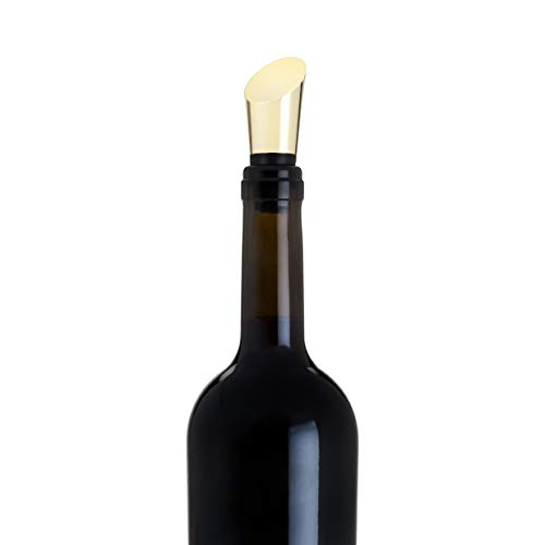 Viski 5215 True Fabrication Belmont: Heavyweight Gold Bottle Stopper), One Size, (Crown Wine Bottle Stopper)