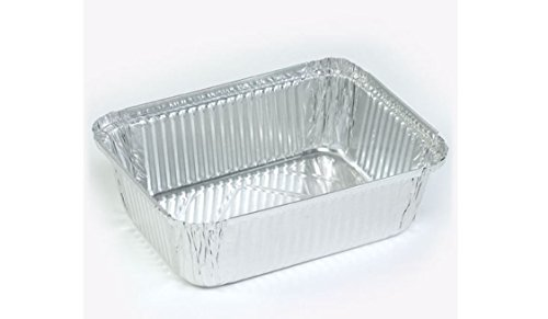 Oblong Pan Aluminum Baking Freezing Storing 5 lb Case Pack 250 New Heavy Duty K&A Company