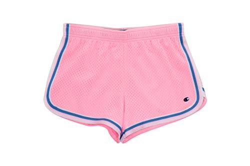 Champion Girls Heritage Foldover Mesh Running Basketball Short 3 Inch Inseam (Medium, Pink Candy)