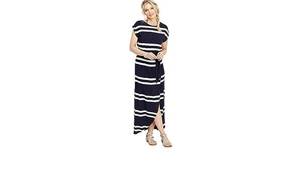 26744308289 maurices Women s Stripe Print Tulip Maxi Dress at Amazon Women s Clothing  store