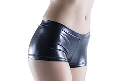 Womens Booty Shorts, Black, Rave Dancers Clubwear, Lingerie Cosplay