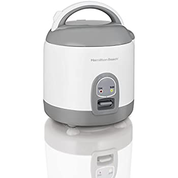 Hamilton Beach Rice Cooker with Rinser/Steam Basket (4 Cups uncooked resulting in 8 Cups cooked) 37508