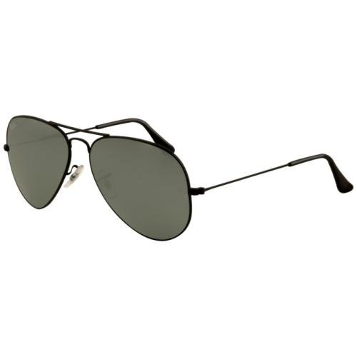 - Ray Ban RB3025 Aviator Sunglasses-002/40 Black (Crystal Gray Mirror Lens)-55mm