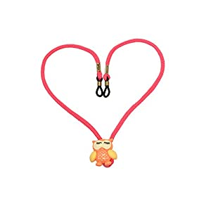 Girl Eyeglasses Retainer | Fun adjustable owl toggle | Secure, Practical and Fun Neck Cord (Pink)