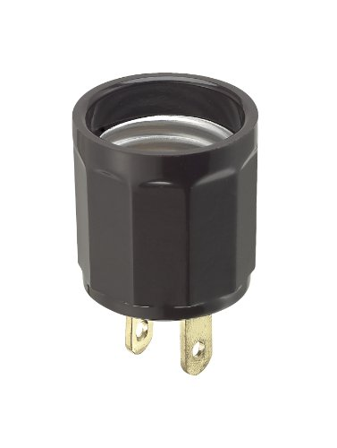 - Leviton 61  660 Watt, 125 Volt, Polarized Outlet-to-Lampholder Adapter, Brown