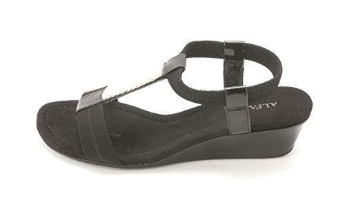 Alfani Womens Vacay Open Toe Casual Platform Sandals, Black, Size 5.5