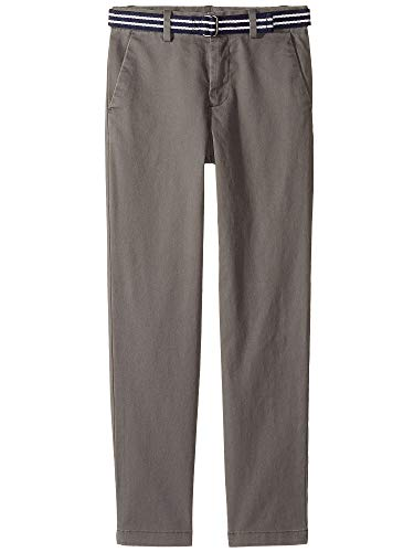 - RALPH LAUREN Polo Boys Stretch Skinny Slim Chino Belted Pants (12, Grey)