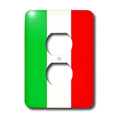 3dRose LLC lsp_4561_6 Italian Flag, 2-Plug Outlet Cover