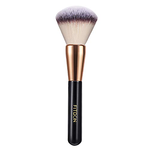 Powder Makeup Brush, FITDON Kabuki Brush for Face Large Coverage Mineral Powder Bronzer Foundation Blending Blush Buffing