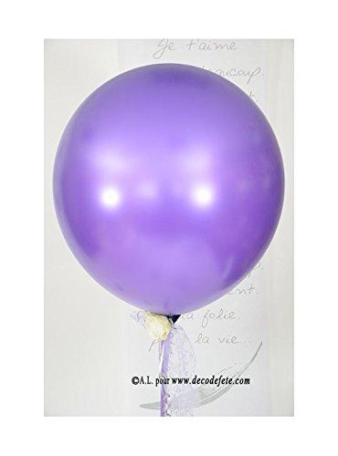 Belbal 1 balón gigante 90 cm Violet púrpura nacarado: Amazon.es: Hogar