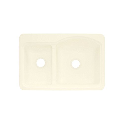 Biscuit Composite Top Mount (Transolid KDT33228-08 33in x 22in Top Mount Self-Rimming Cambridge Kitchen Sink, Biscuit)
