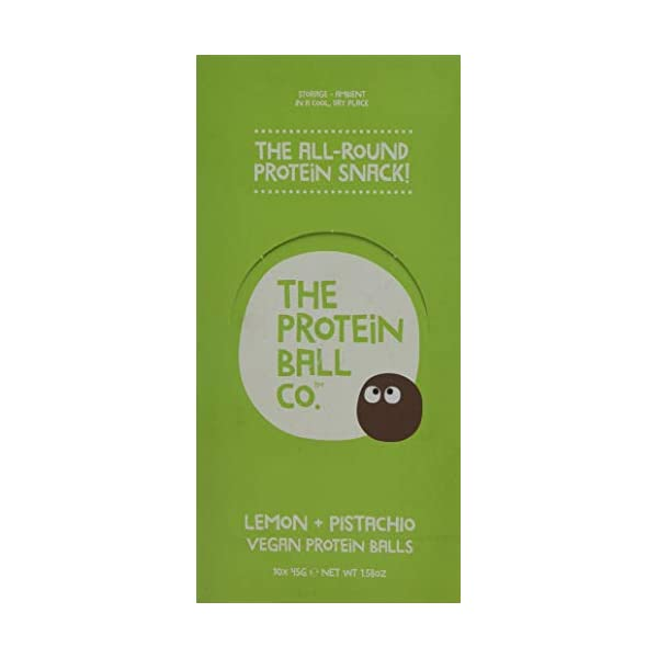 The Protein Ball Co Lemon and Pistachio Nutrition Balls