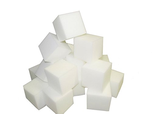 Foam Pits Blocks/Cubes 500 pcs. (WHITE) 4″x4″x4″ (1536) Pit Foam Blocks/Cubes For Skateboard Parks, Gymnastics Companies, and Trampoline Arenas