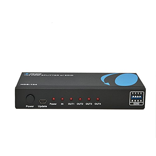 - OREI HDS-104 1x4 Powered 1080P V1.4 Certified HDMI Splitter with Full Ultra HD 4K/2K and 3D Resolutions w/ EDID Support
