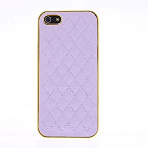 DUR Blue Deluxe Sheep Leather Chrome gold frame Case for iPhone 5 , Pink