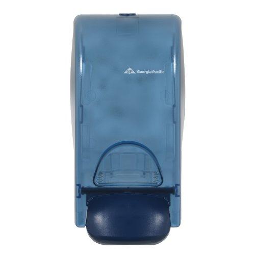 Georgia-Pacific 53052 Splash Blue Manual Soap and Sanitizer Dispenser, 5.6