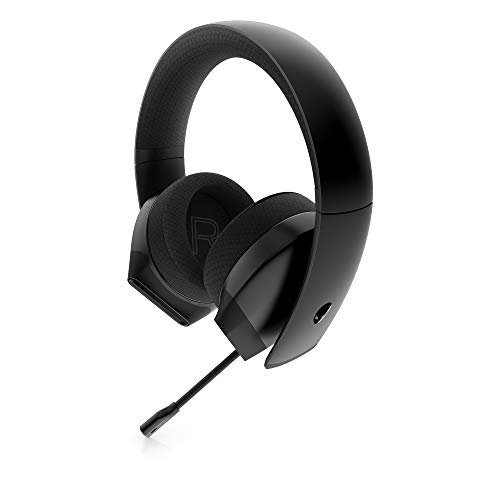 Alienware Stereo PC Gaming Headset AW310H: 50mm Hi-Res Drivers – Sports Fabric Memory Foam Earpads – Works with PS4…