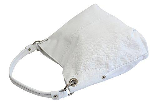 sac femme Moda à GL012 fourre AMBRA à véritable Sac Sac cuir sac bandoulière bandoulière main à Weiß tout I1RxwPndqR