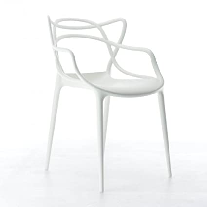Kartell Masters 586503 Chaise Blanc Philippe Starck Mit Eugeni