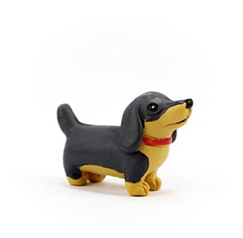 16Designs Mini Dogs Husky Corgi Pug Chow Chow Fairy Garden Miniatures Gnome Moss Terrariums Decoration Accessories For Home 9]()
