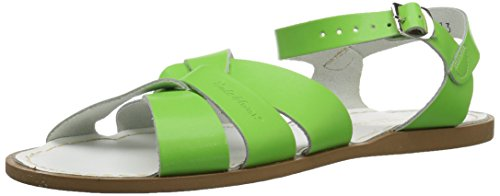 Green Saltwater Water Series (Salt Water Sandals by Hoy Shoe Original Sandal (Toddler/Little Kid/Big Kid/Women's), Lime Green, 7 M US Big Kid / 10 B(M) US Women)