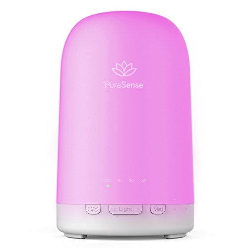 Pallas Aromatherapy Essential Oil Diffuser, 200 milliliter Ultrasonic Diffusers Cool Mist Humidifier with Auto Shut-Off and 24 Colors LED Lights Changing for Home Office Baby Yoga Spa 31LhjIvMMDL