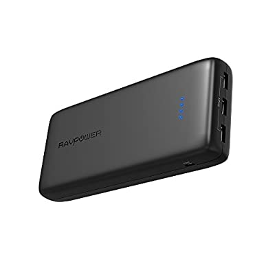Power Banks RAVPower 32000mAh 6A Output Portable Charger External Battery Pack (3-Port, 2.4A Intput, Triple iSmart 2.0 USB, High-density Li-polymer Battery
