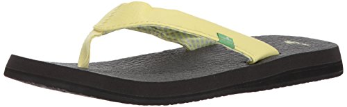 Sanuk Women's Yoga Mat Flip-Flop, Yellow pear, 09 M US