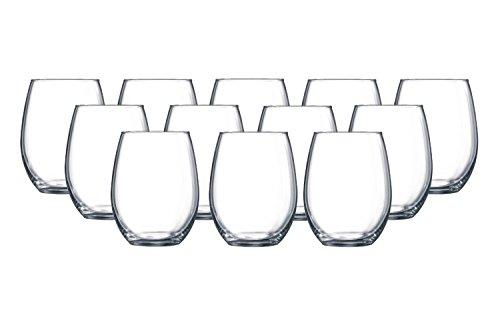 Luminarc/ Stemless Glass Tumblers 12 Pc Set (Cheap Wine Glass Sets)