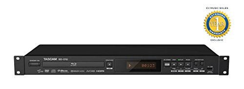 Tascam BD-01U Rackmount Blu-Ray Player with 1 Year Free Exte