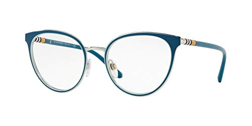 - Burberry Women's BE1324 Eyeglasses Turquoise/Silver 52mm