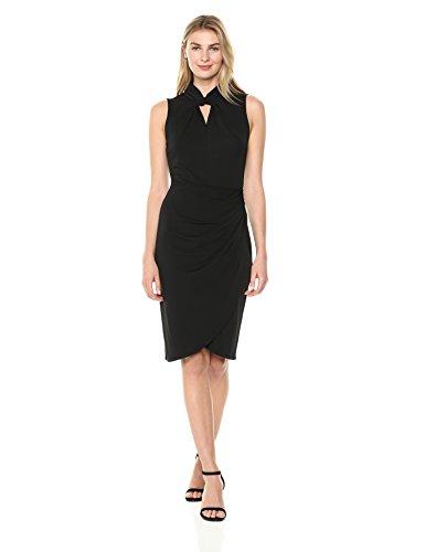 Lark & Ro Womens Twist Neck Dress