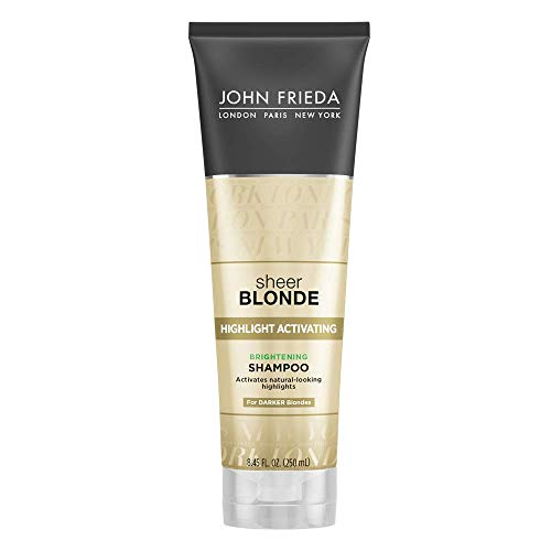John Frieda Sheer Blonde Highlight Activating Brightening Shampoo Darker Blondes, 8.45 oz (Pack of 2)