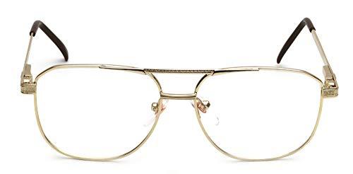 (Tantino Eyeglasses Classic Vintage Style (Metal Gold, UV400))