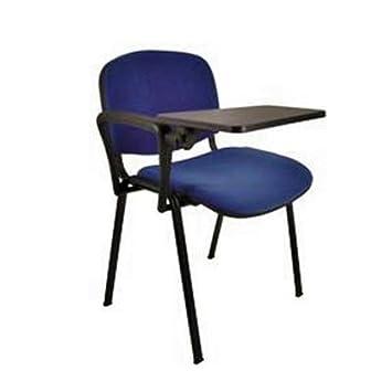 x5 Lote de 5 sillas con pala y tapizadas en color AZUL