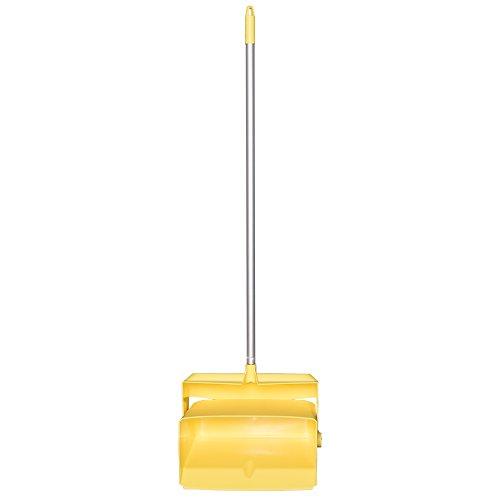 Remco 62506 Lobby Dustpan with Broom, Polypropylene/Polyester/Aluminum, 7'' X 14'' Bin, 37'' Handle, Yellow
