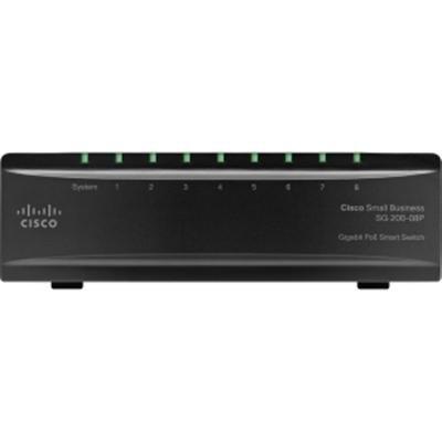 Cisco Sg200-08P 8 Port 10/100/1000 Poe Ethernet Switch