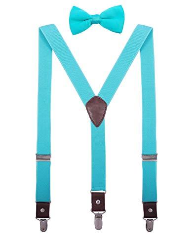 ORSKY Girls Teens Bow Tie and Suspenders Set Adjustable Elastic 40