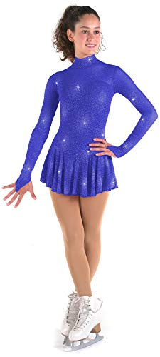 Sagester # 177 / Italy Hand-Made/Figure Ice Skating Dress/Size:II/Blue