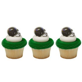 24 ~ NFL Baltimore Ravens Helmet Rings ~ Designer Cake/Cupcake Topper ~ New