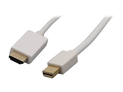 Nippon Labs MINIDP-HDMI-10 10-Feet Mini Display Port Male to HDMI Male 32 AWG Cable, White