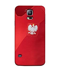 ColorKing Football Poland 07 Red shell case cover for Samsung S5