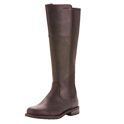 ARIAT Women's Sutton Waterproof Boot Black Size 8 B/Medium Us