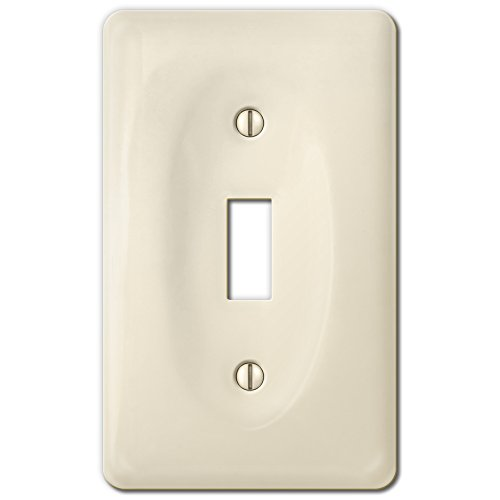 Amerelle 3020TBT Allena Biscuit Ceramic 1 Toggle (Ceramic Wall Switchplate)