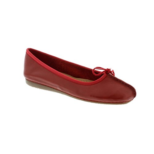clarks-freckle-ice-red-leather-womens-shoes-7-us